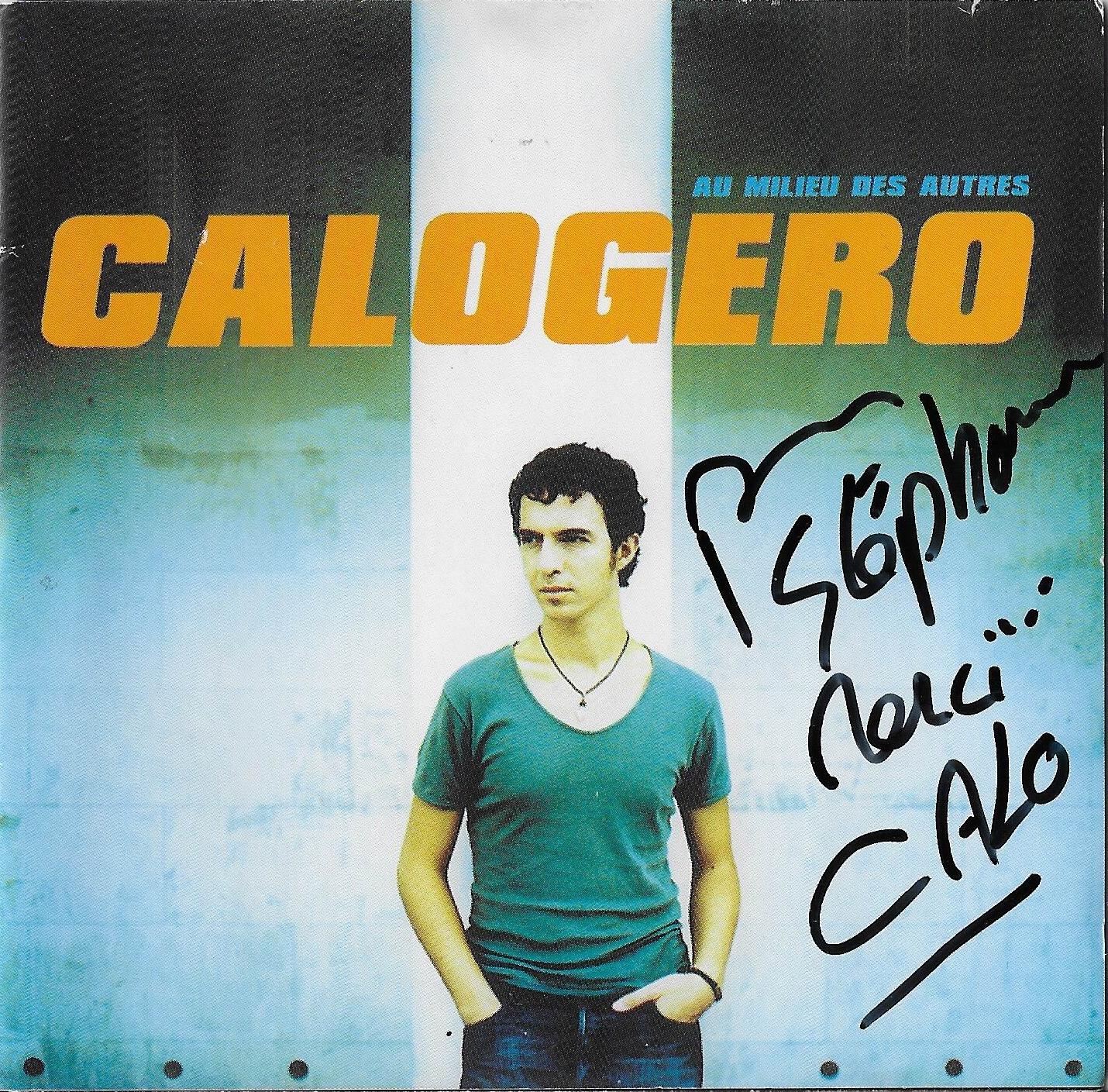 Autographe Calogero