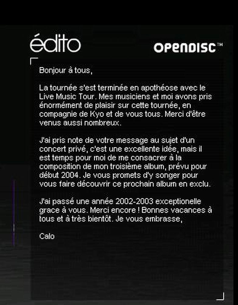 Edito Calogero 03.07.2003