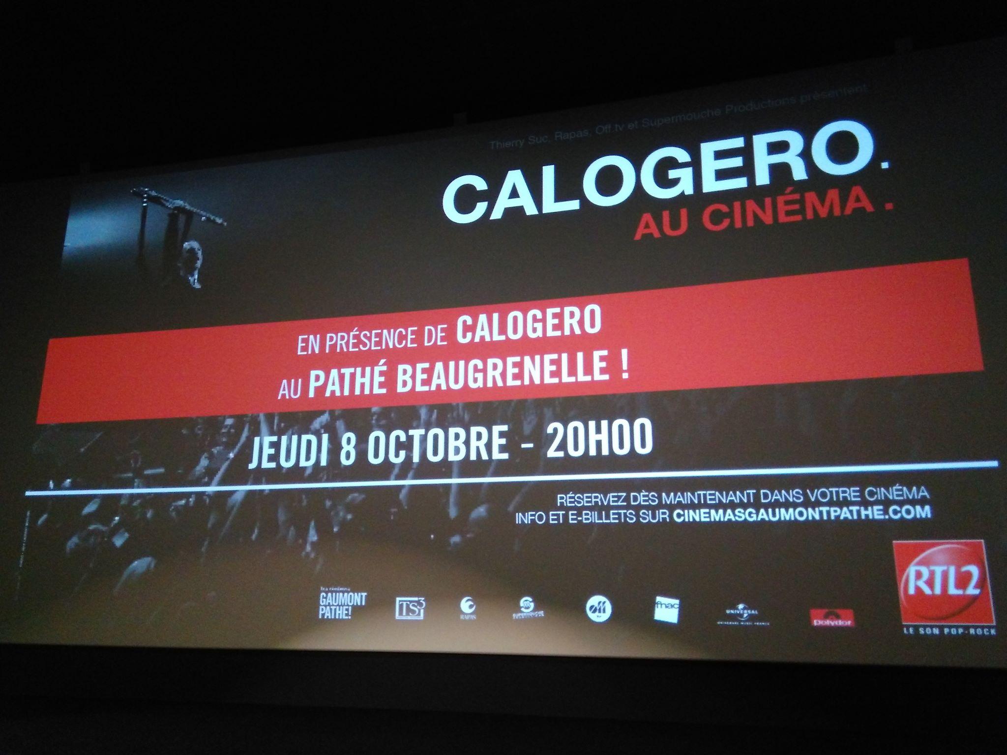 Ecran de pré séance au cinéma Beaugrenelle 08.10.2015 - cdvore