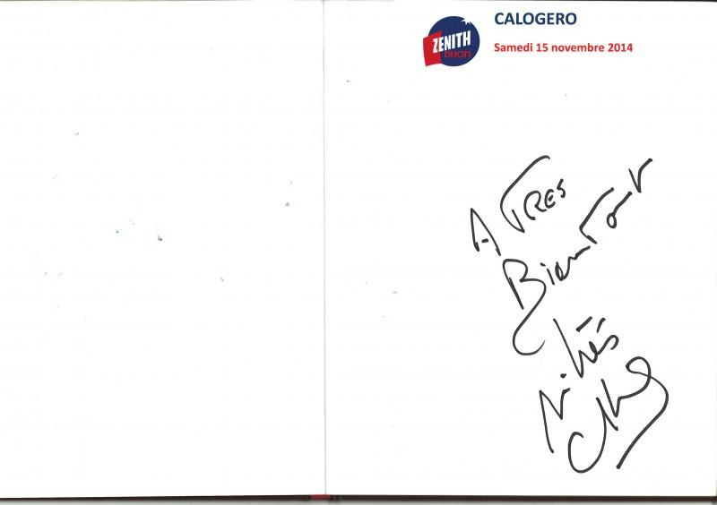 Signature Livre d'or Zénith Dijon 15.11.2014