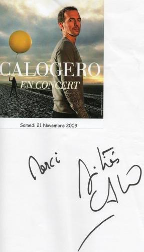 Signature Livre d'or Zénith Limoges 21.11.2009