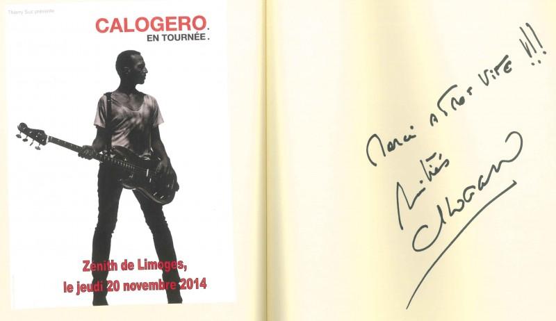 Signature Livre d'or Zénith Limoges 20.11.2014