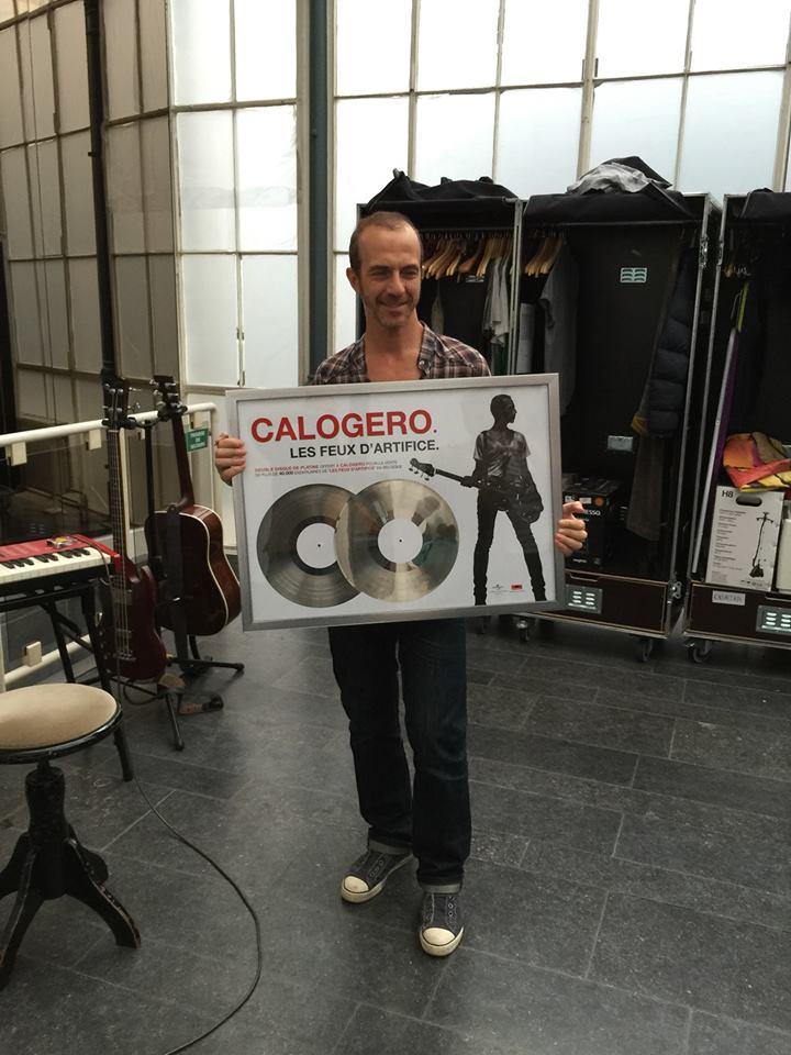 Calogero double disque de Platine Belgique Les Feux d'Artifice 20.07.2015