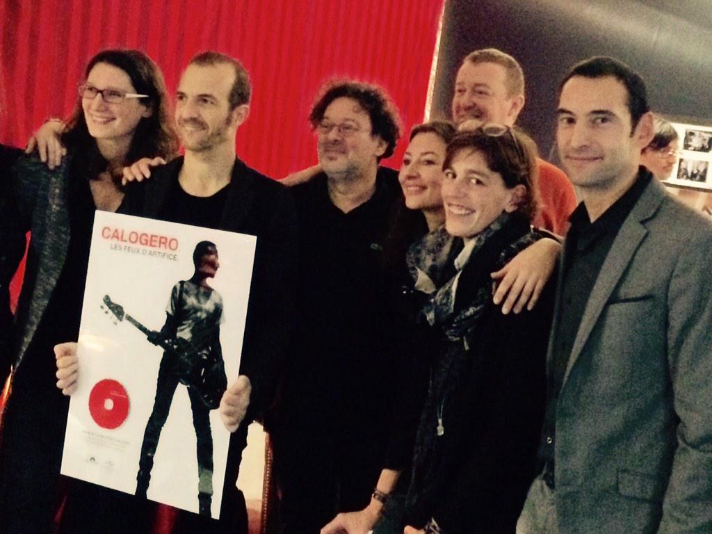 Calogero disque de Platine Belgique Les Feux d'Artifice 13.12.2014