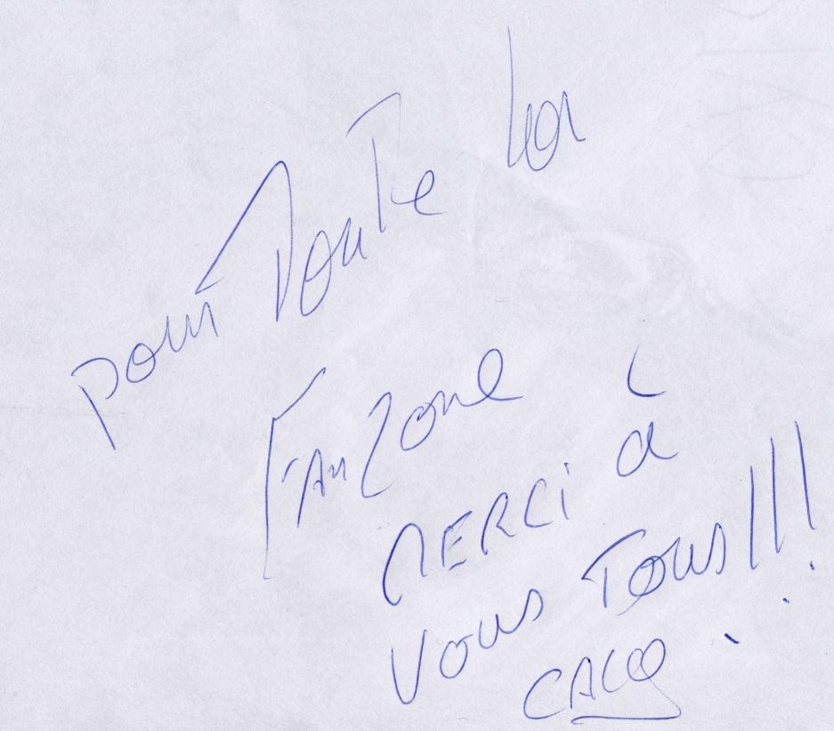 Autographe pour la Fanzone 2003