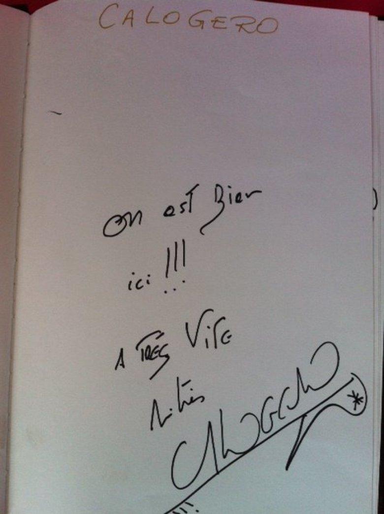 Signature Livre d'or Vieilles Charrues 18.07.2015