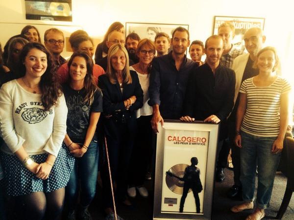 Calogero disque de Platine Les Feux d'Artifice 27.08.2014