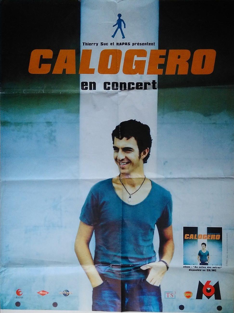 Affiche de la tournée de Calogero Au Milieu des autres Tour 2000/2001