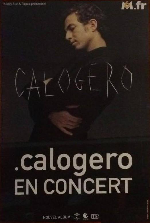 Affiche de la tournée de Calogero Eponyme Tour 2002/2003