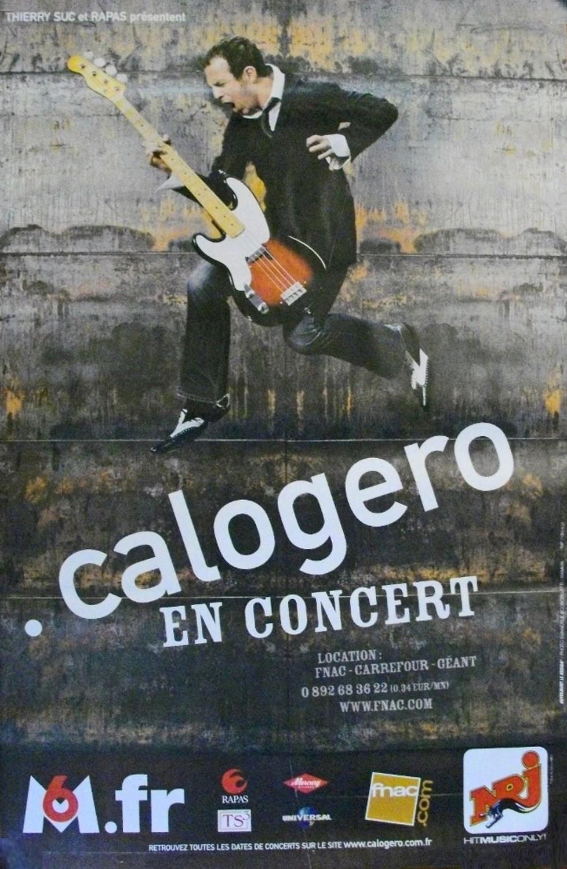 Affiche de la tournée de Calogero 3. Tour 2004/2005