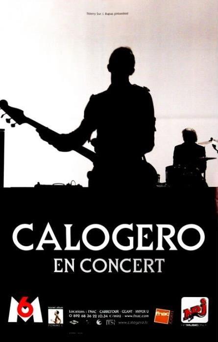 Affiche de la tournée de Calogero Pomme C Tour 2007/2008