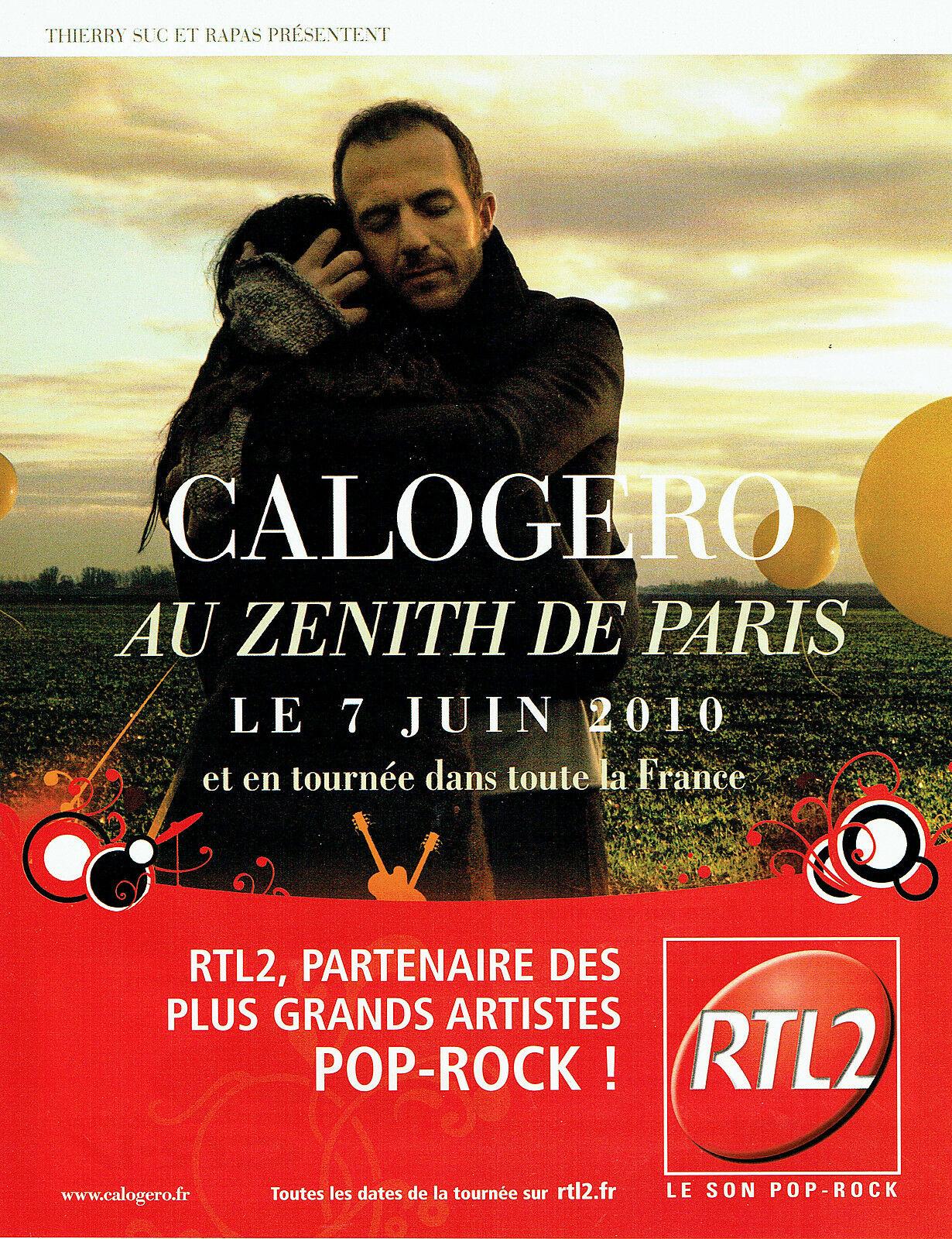 Affiche de la tournée de Calogero L\'Embellie Tour 2009/2010
