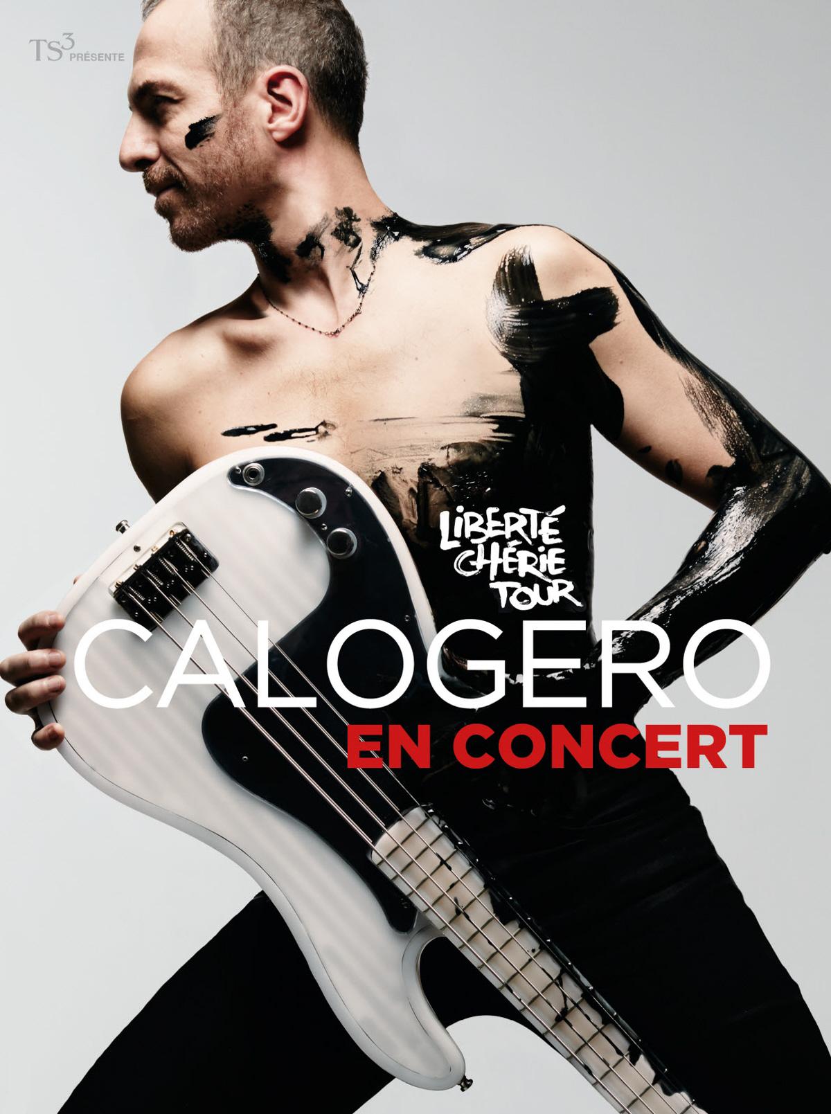 Affiche de la tournée de Calogero Liberté Chérie Tour 2018/2019
